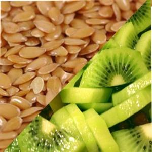 Продукты способствующие похудению. Киви и семена льна.